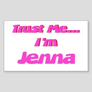 Trust Me I'm Jenna Rectangle Sticker