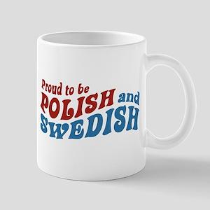Proud Polish and Swedish Mug