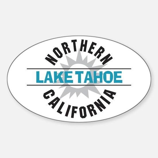 Lake Tahoe California Oval Decal