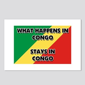 What Happens In CONGO Stays There Postcards (Packa