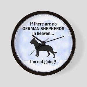 German Shepherds in Heaven Wall Clock