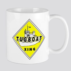 Tugboat Xing sign Mug