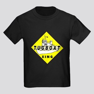 Tugboat Xing sign Kids Dark T-Shirt