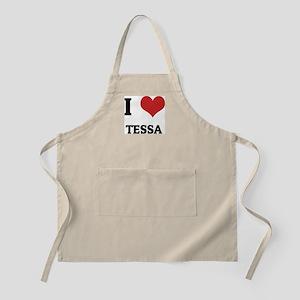 I Love Tessa BBQ Apron