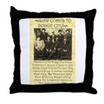 Dodge City Peace Commission Throw Pillow