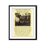 Dodge City Peace Commission Framed Panel Print