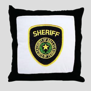 Dallas County Sheriff Throw Pillow