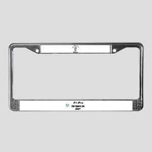 CELL PHONE JUNKIE License Plate Frame