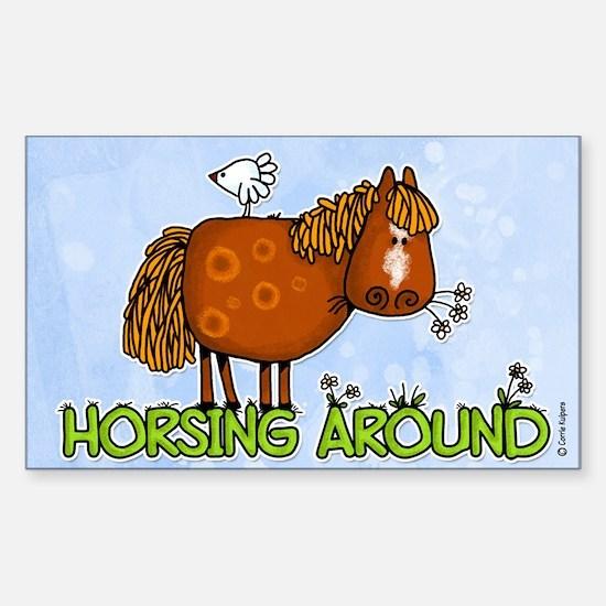 horsing around (no text) Rectangle Decal