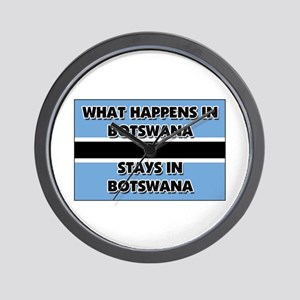 What Happens In BOTSWANA Stays There Wall Clock