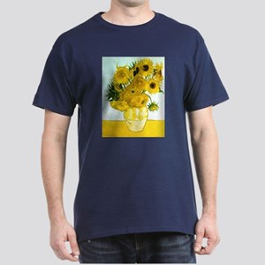 Van Gogh Sunflowers Dark T-Shirt
