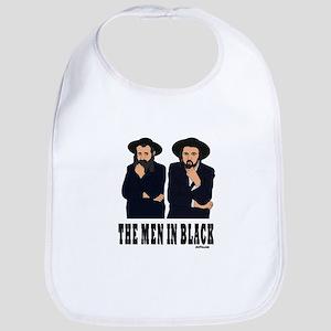 The Men In Black Funny Jewish Bib