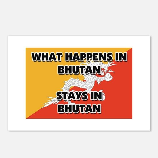 What Happens In BHUTAN Stays There Postcards (Pack