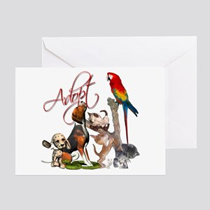 adopt a pet greeting card - Humane Society Christmas Cards