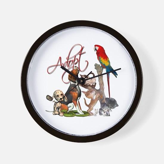 Adopt a Pet Wall Clock