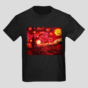 Fiery Night Kids Dark T-Shirt