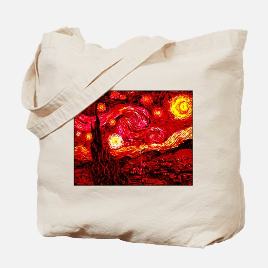 Fiery Night Tote Bag