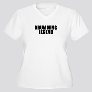 Drumming Legend Women's Plus Size V-Neck T-Shirt