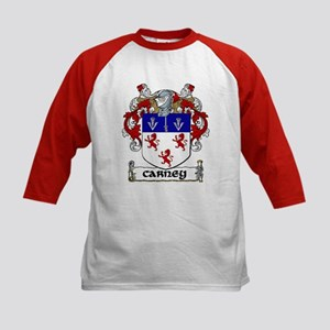 Carney Coat of Arms Kids Baseball Jersey