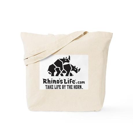 Rhino's Life Tote Bag - Black Logo