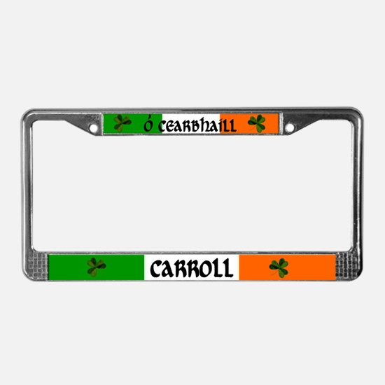Carroll Coat of Arms License Plate Frame