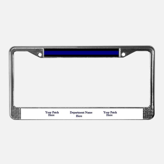 Personalized Blue Line Plate