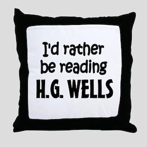 H.G. Wells Throw Pillow