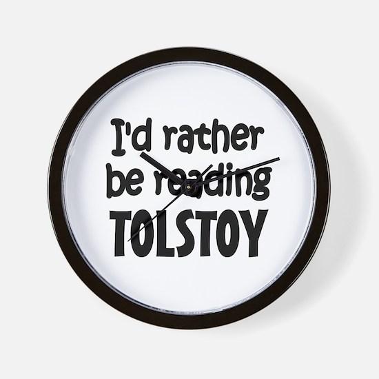 Tolstoy Wall Clock