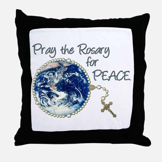 Pray the Rosary for Peace Throw Pillow