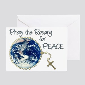 Pray the rosary for world peace greeting cards cafepress pray the rosary for peace greeting card m4hsunfo