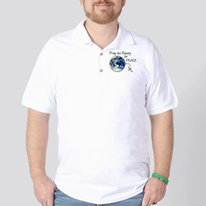 Pray the Rosary for Peace Golf Shirt