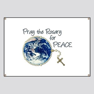 Pray the Rosary for Peace Banner
