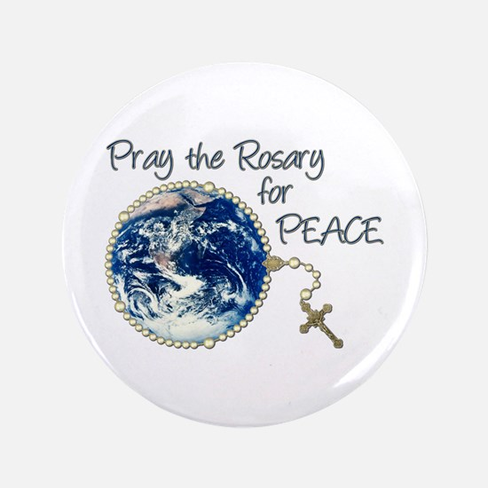 Pray the Rosary for Peace Button