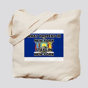 What Happens In NEW YORK Stays There Tote Bag