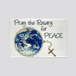 Pray the Rosary for Peace Rectangle Magnet