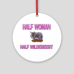 Half Woman Half Wildebeest Ornament (Round)