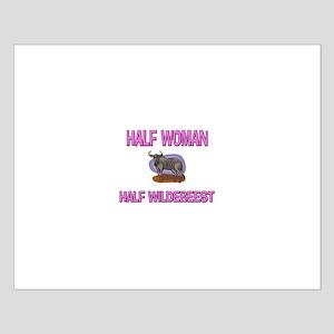 Half Woman Half Wildebeest Small Poster