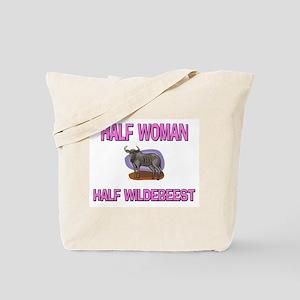 Half Woman Half Wildebeest Tote Bag