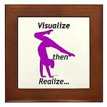 Gymnastics Framed Tile - Visualize