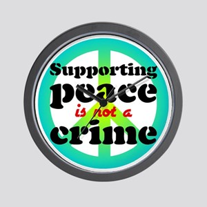 Supporting peace. Wall Clock