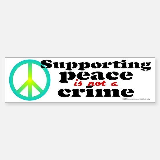 Supporting peace. Bumper Bumper Bumper Sticker