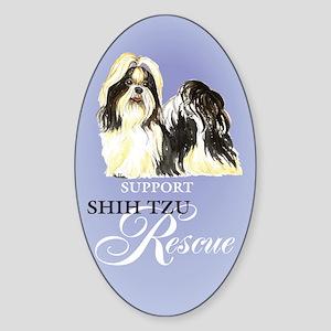 Shih Tzu Rescue Oval Sticker
