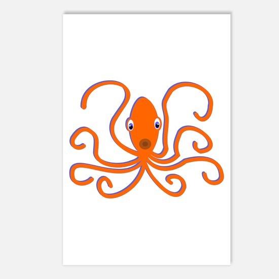Orange Octopus Postcards (Package of 8)