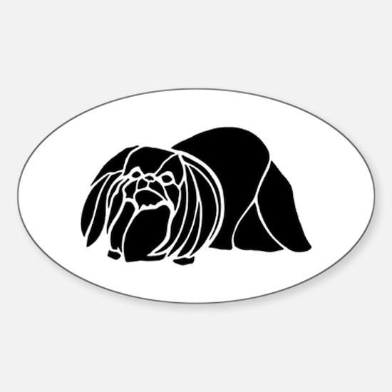 Pekingese Oval Decal
