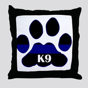 K9 Thin Blue Throw Pillow