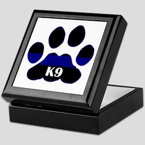 K9 Thin Blue Keepsake Box