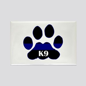 K9 Thin Blue Rectangle Magnet