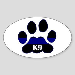 K9 Thin Blue Oval Sticker