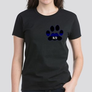 K9 Thin Blue Women's Dark T-Shirt