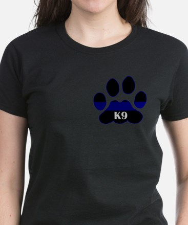 K9 Thin Blue Women's Dark T-Shirt
